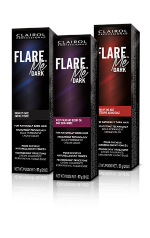 Express Yourself With 7 Flare Me Dark Permanent Cream Colors True2tone Technology Delivers Up To 6 Weeks Of Bold Color Results On Hair