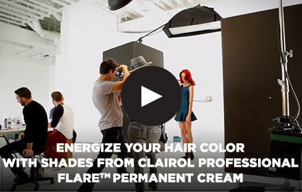 Energize Your Hair Color With Shades From Clairol Professional FLARE™ Permanent Cream