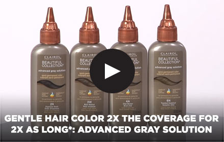 Gentle Hair Color 2X THE COVERAGE FOR 2X AS LONG*: Advanced Gray Solution by Clairol Professional