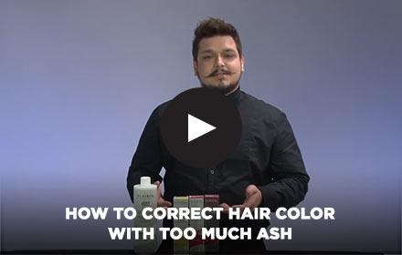 How to Correct Hair Color with Too Much Ash by Clairol Professional Online Education