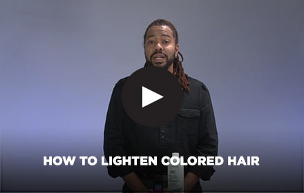 How to Lighten Colored Hair by Clairol Professional Online Education