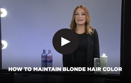 How to Maintain Blonde Hair Color by Clairol Professional Online Education