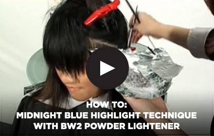 How to: Midnight Blue Highlight Technique with BW2 Powder Lightener by Clairol Professional