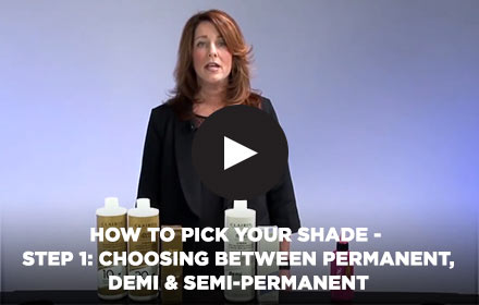 How to Pick Your Shade - Step 1: Choosing Between Permanent, Demi & Semi-Permanent
