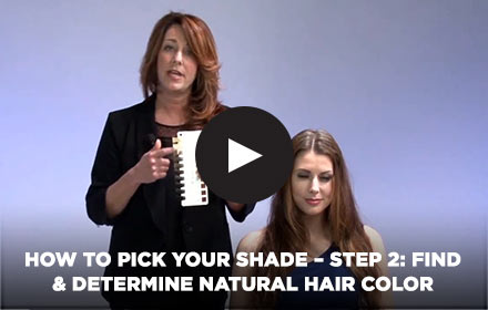 How to Pick Your Shade - Step 2: Find & Determine Natural Hair Color