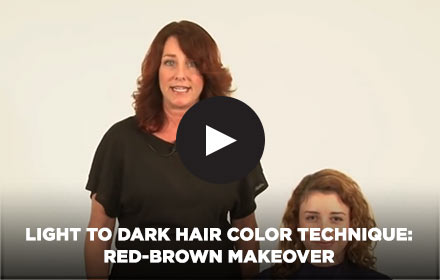 Light to Dark Hair Color Technique: Red-Brown Makeover by Clairol Professional